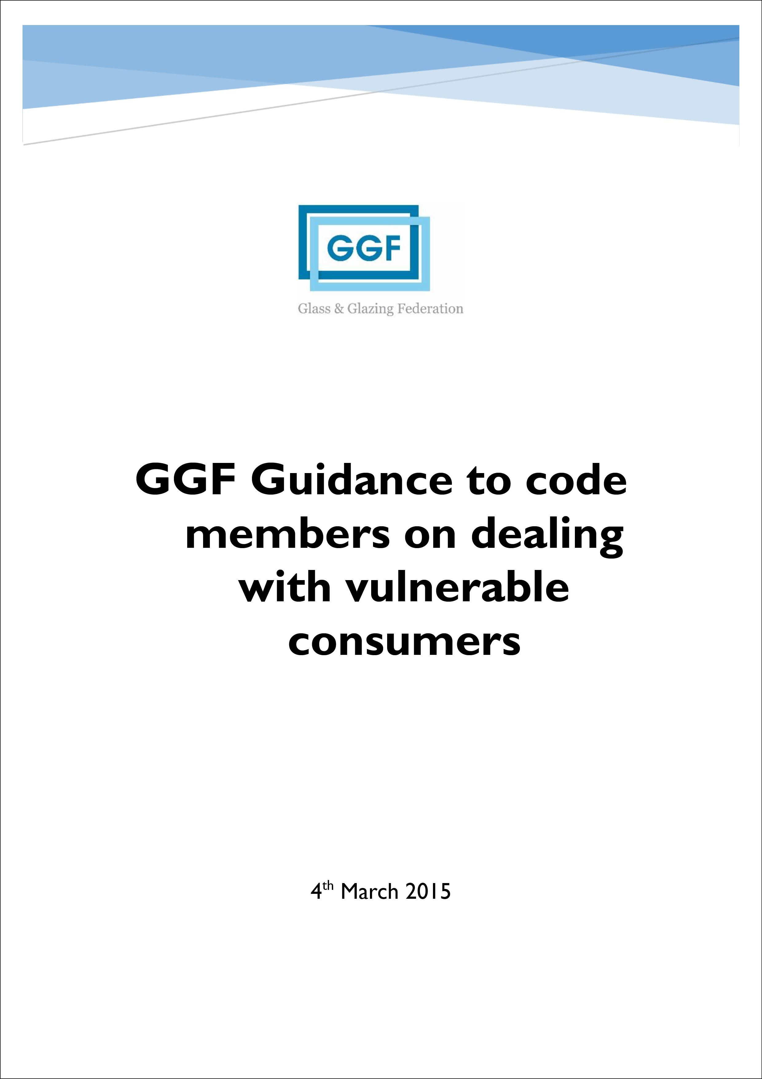 GGF Guidance to Code Members on Dealing with Vulnerable Consumers