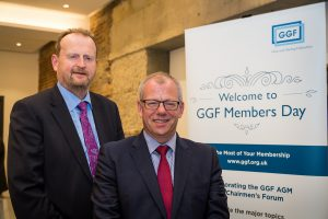 ggf group chief executive phill pluck and president john agnew at members day 2017