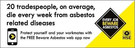 HSE beware asbestos web app logo banner