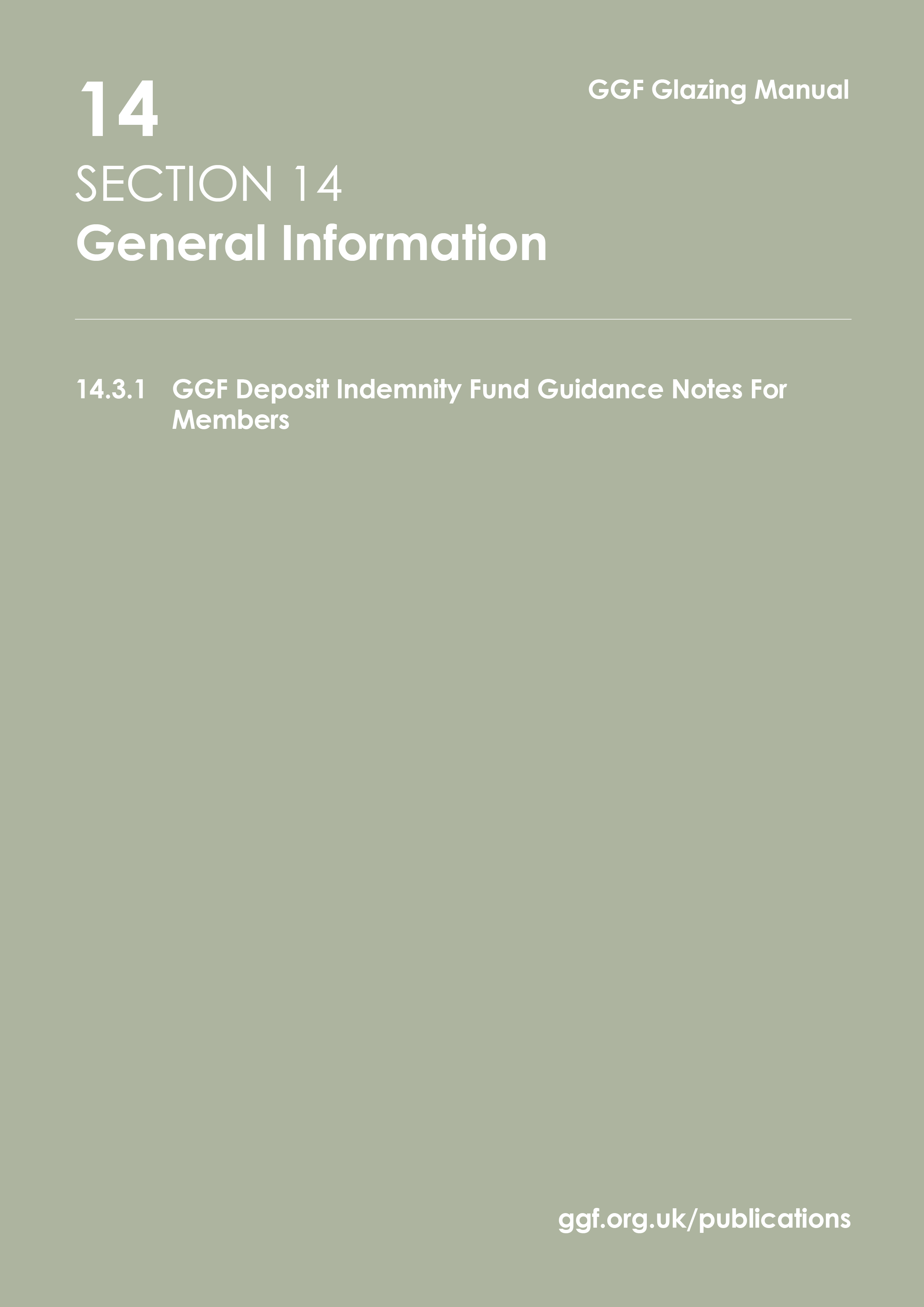 Glass And Glazing Federation Ggf Data Sheet