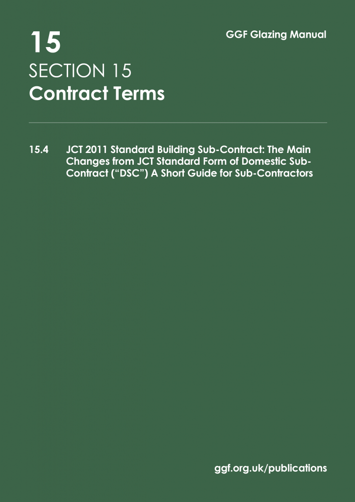 Contract Terms Glass And Glazing Federation