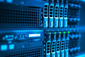 server stack blue light