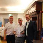 Award winners, John Mannell of Prentice Glass, Chairmen of GGF London Region
