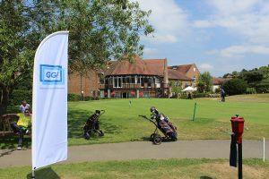 GGF flag, practice green, Tudor Park Marriott Hotel & Country Club