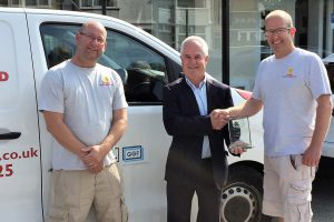 Lancing Glass Works GGF Founder Member award presentation