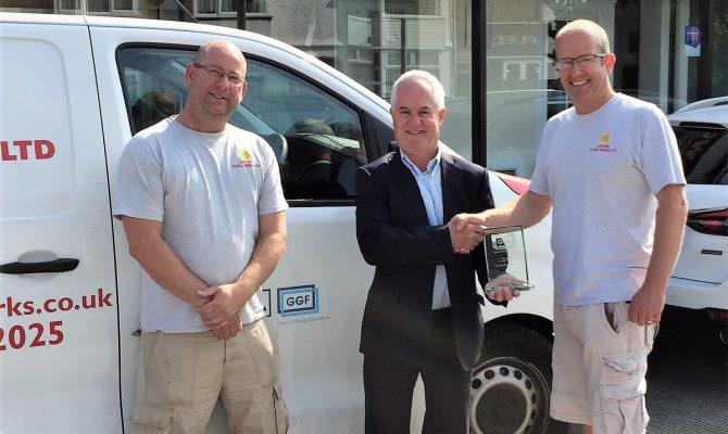 Lancing Glass Works GGF Founder Member award presentation