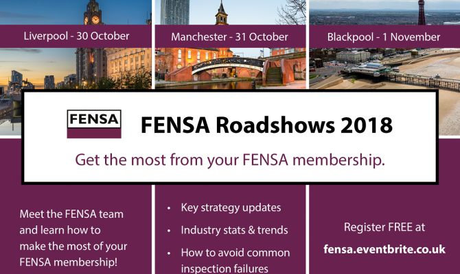 FENSA Roadshow 2018 Calendar - North West