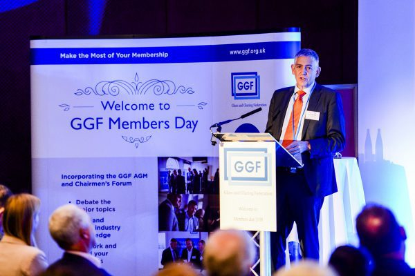 GGF Group CEO Kevin Buckley addresses attendees at GGF Members Day 2018