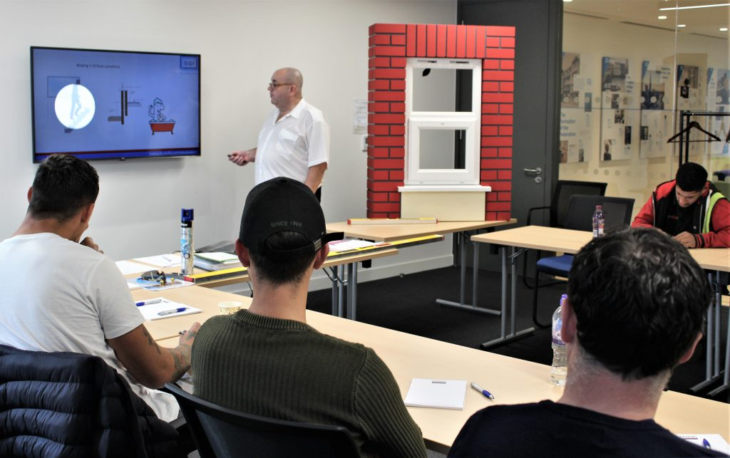 Andy Clegg leading a GGF Installer Training course at GGF offices