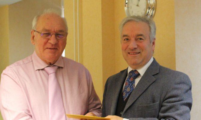 Dr Bernard Lowe and Tony Smith at Glazing Executive Presentation - Copy