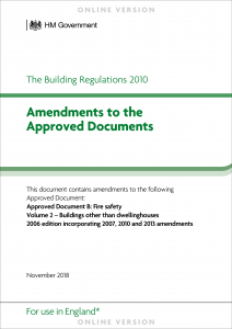 Amendments to the Approved Documents - PDF cover