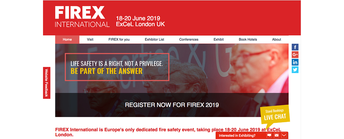 FIREX 2019 - What to expect at Europe's biggest exhibition for Fire