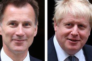 Boris Jonstome and Jeremy Hunt