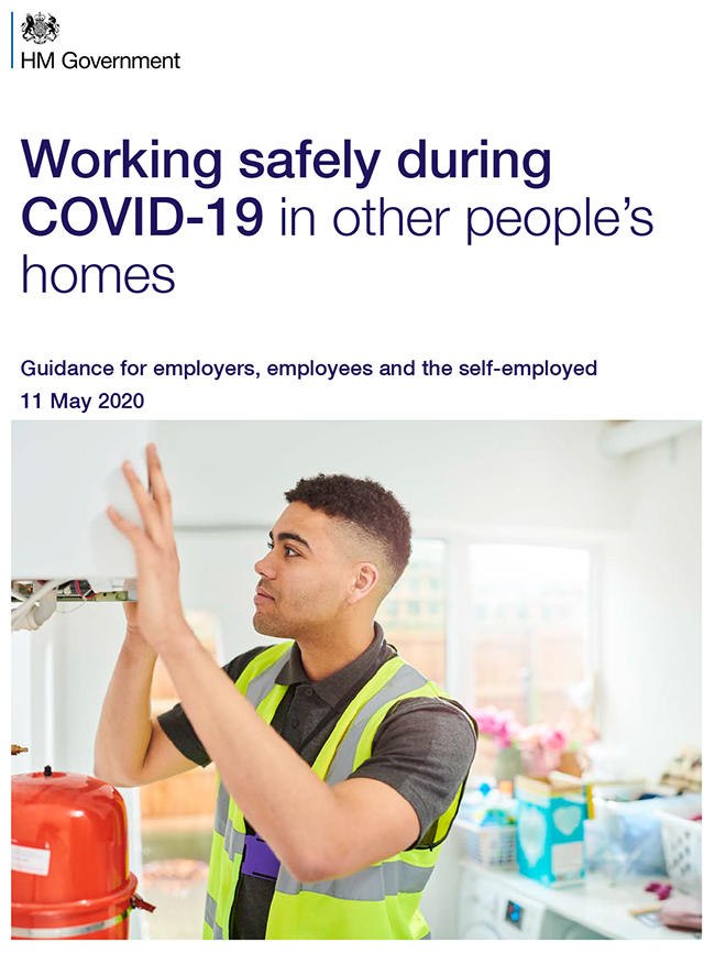 Government guidance on working safely during COVID-19 in other people's homes